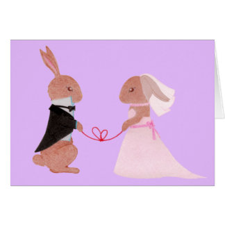 Mr. & Mrs. Rabbit Wedding Greeting Card