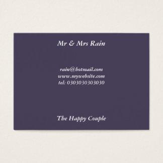 Mr & Mrs Rain Business Card