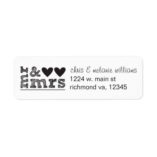 mr & mrs return address labels