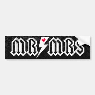 Mr & Mrs Rocker - Bumper Sticker