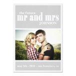 MR. & MRS Save the date Invitation 13 Cm X 18 Cm Invitation Card
