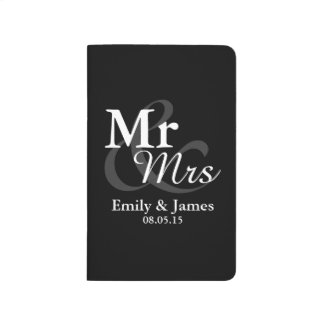 Mr&Mrs Simple Elegant Typography Wedding Favor Journal