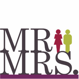Mr & Mrs Them Cake Topper Standing Photo Sculpture