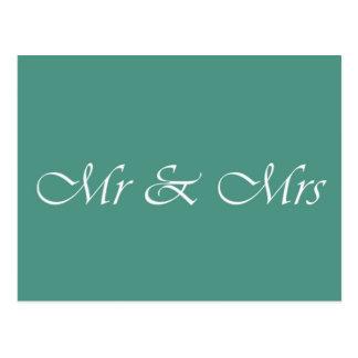 Mr & Mrs Typography Postcard