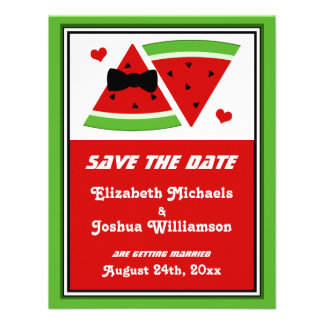 Mr Mrs Watermelon SAVE the DATE Announcements