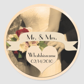 Mr Mrs Wedding Stickers