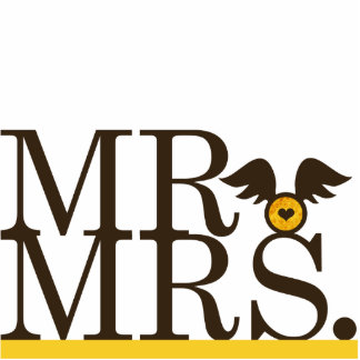 Mr & Mrs Wings Cake Topper Photo Cutout