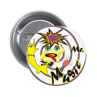 Mr Music 6 Cm Round Badge