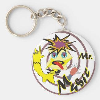 Mr Music Basic Round Button Key Ring