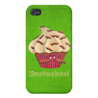 Mr Mustached Cupcake iPhone 4 Case