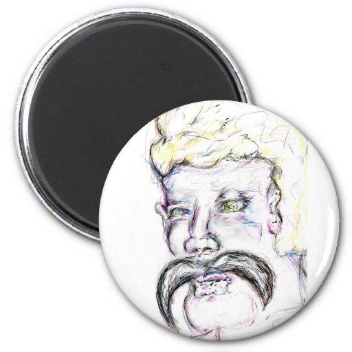 Mr Mustachio Heraclitus Magnet