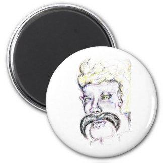 Mr Mustachio Heraclitus Refrigerator Magnet