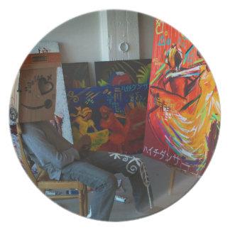 Mr. NOBODY: ( pre·ten·tious Art Project Plate
