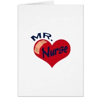 Mr. Nurse Greeting Card