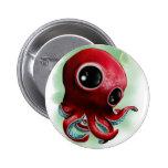 Mr Octopus 6 Cm Round Badge