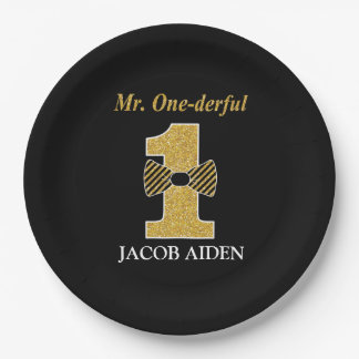 "Mr. One-derful Custom Paper Plates 9"" 9 Inch Paper Plate"
