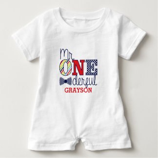 Mr. ONEderful Baby Romper - First Birthday Outfit Baby Bodysuit