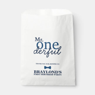 Mr Onederful Birthday Favor Bags Favour Bags