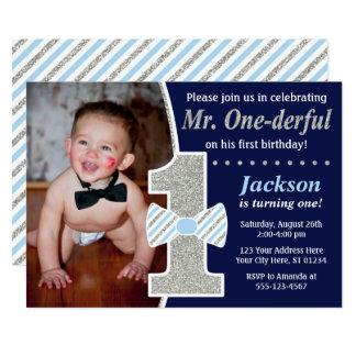 Mr. ONEderful Birthday Invitation
