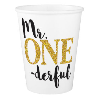 Mr. ONEderful Birthday Party - 9 oz Paper Cup