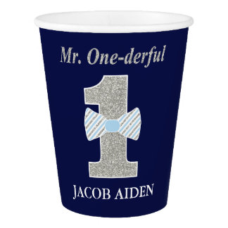 Mr. ONEderful Birthday Party - Paper Cup, 9 oz Paper Cup