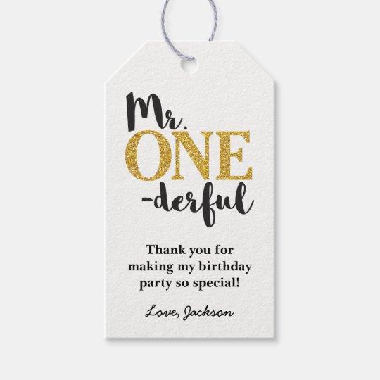 Mr. ONEderful Gift Tags - Mr. One-derful Birthday