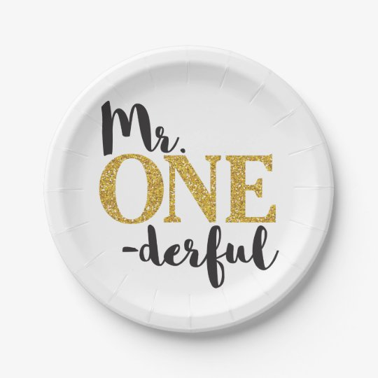 """Mr. ONEderful Paper Plates 7"""""""