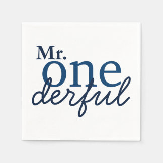 Mr Onederful Party Napkins Disposable Napkins