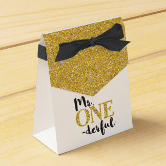 Mr. ONEderful Tent Favor Box Wedding Favour Box
