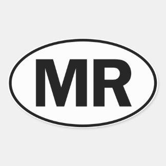MR Oval Identity Sign Oval Sticker