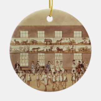 Mr Owen's Institution, New Lanark (Quadrille Danci Round Ceramic Decoration
