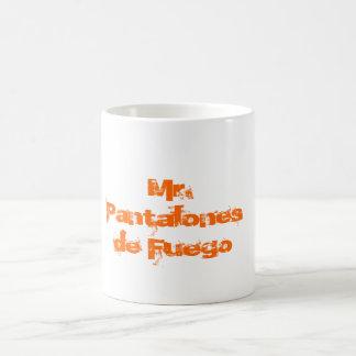 Mr. Pantalones De Fuego Basic White Mug