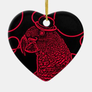 Mr parrot ceramic heart decoration