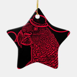 Mr parrot ceramic star decoration