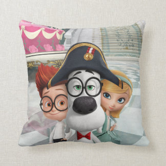 Mr. Peabody & Sherman in France Cushion