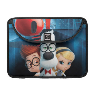 Mr. Peabody & Sherman in the Wabac Room Sleeve For MacBook Pro