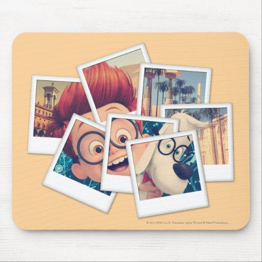 Mr. Peabody & Sherman Travel Selfie Mousepads