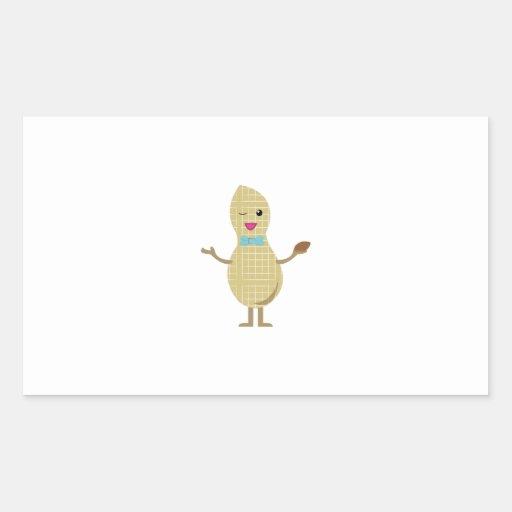 Mr. Peanut Rectangular Stickers