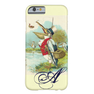 MR PELICAN FISHING MONOGRAM,cream Barely There iPhone 6 Case