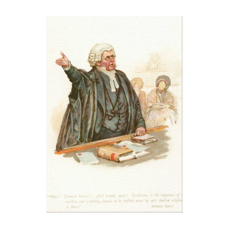 Mr Perker from Pickwick Papers Canvas Print