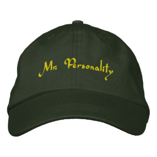Mr Personality Embroidered Hat