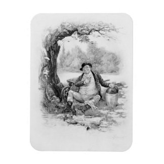 Mr Pickwick, from 'Charles Dickens: A Gossip about Rectangular Photo Magnet