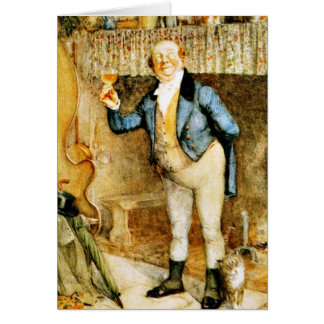 Mr. Pickwick proposes a toast by Frank Reynolds Greeting Card