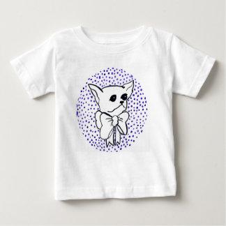 Mr. PiddlePoo the Chihuahua, purple polka dots Baby T-Shirt