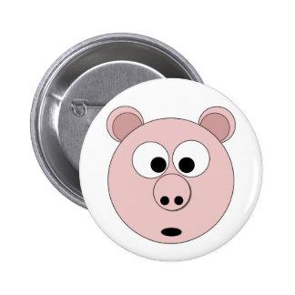 Mr Pig the 1st 6 Cm Round Badge
