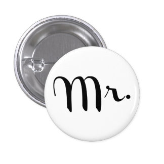 Mr. Pin Black on White