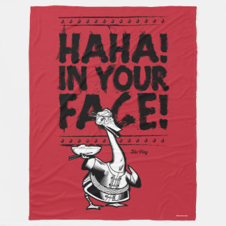 Mr. Ping - HAHA! In Your Face! Fleece Blanket