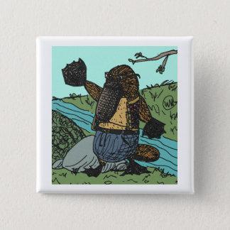 Mr Platypus Button2 15 Cm Square Badge