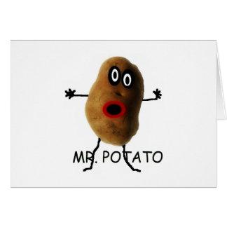 Mr Potato Cartoon Card