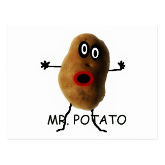 Mr Potato Cartoon Postcard